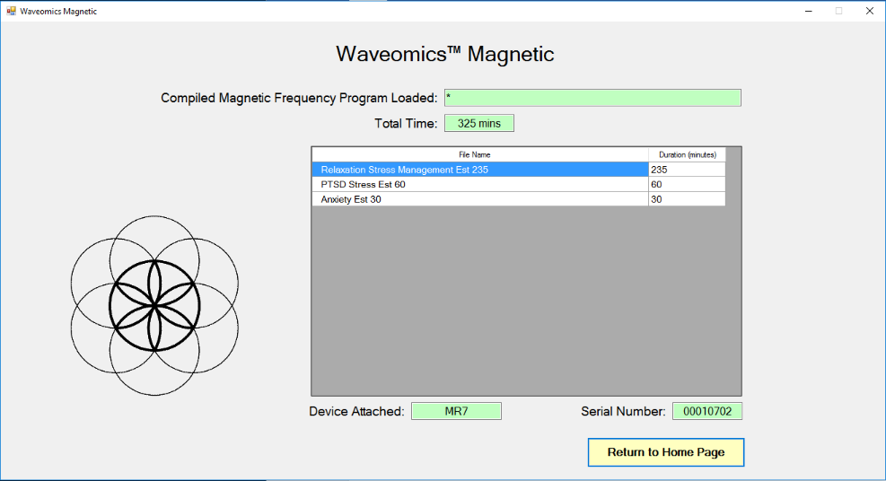 Magnetic Frequency Files in Device screen